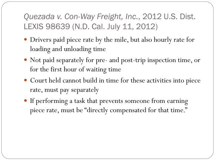 Quezada v. Con-Way Freight, Inc.