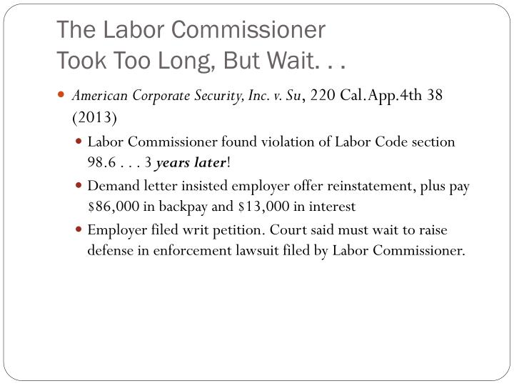 The Labor Commissioner