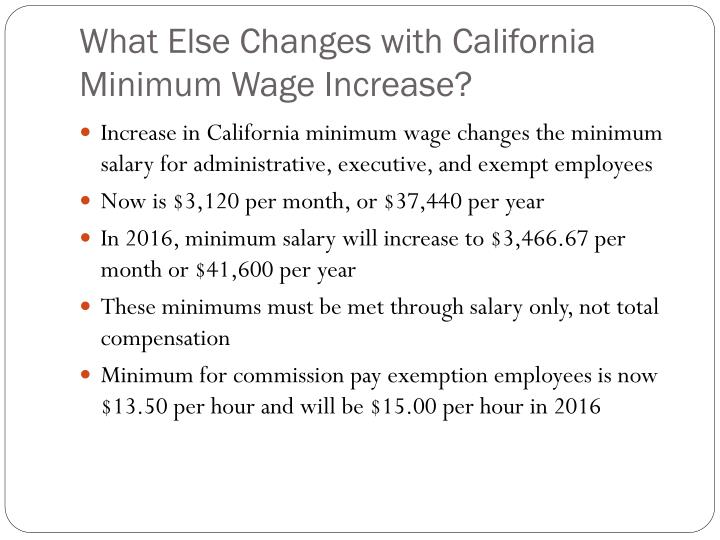 What Else Changes with California Minimum Wage Increase?