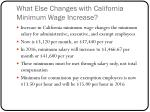 what else changes with california minimum wage increase