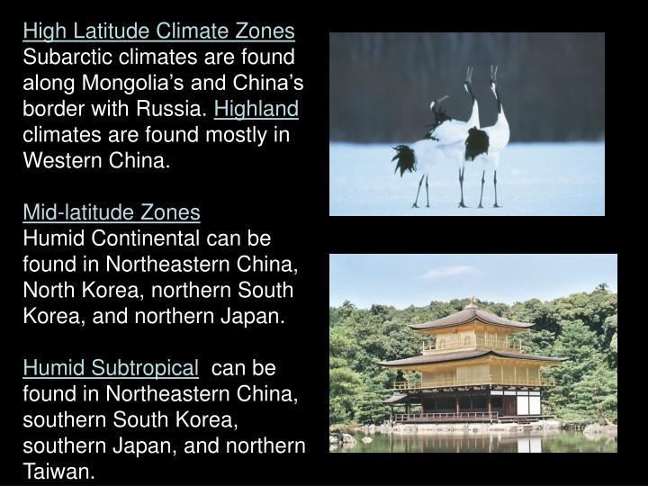 High Latitude Climate Zones