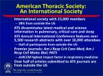 american thoracic society an international society