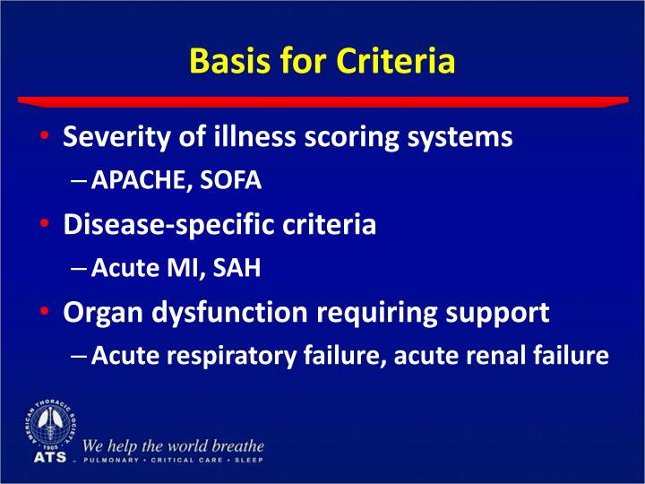 Basis for Criteria