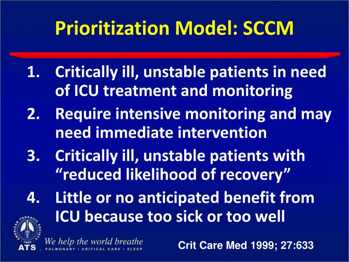 Prioritization Model: SCCM