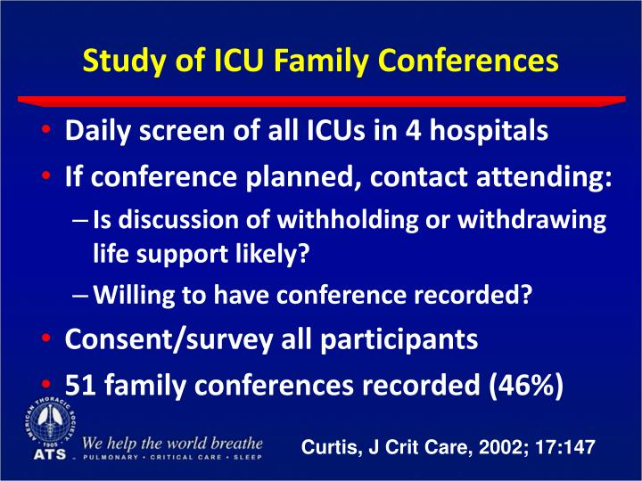 Study of ICU Family Conferences