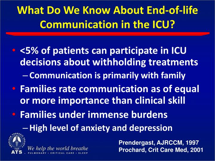 What Do We Know About End-of-life Communication in the ICU?
