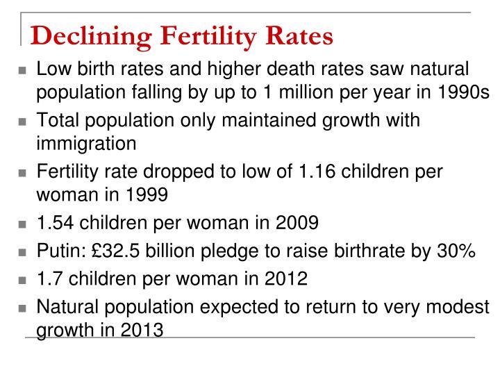 Declining Fertility Rates