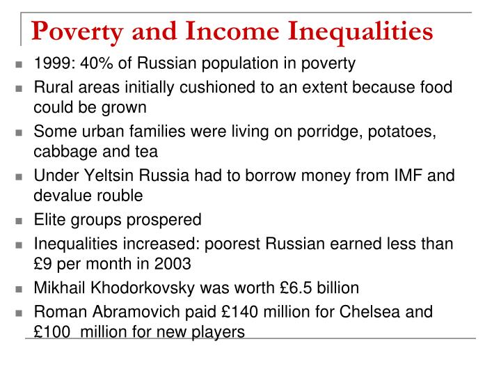 Poverty and Income Inequalities