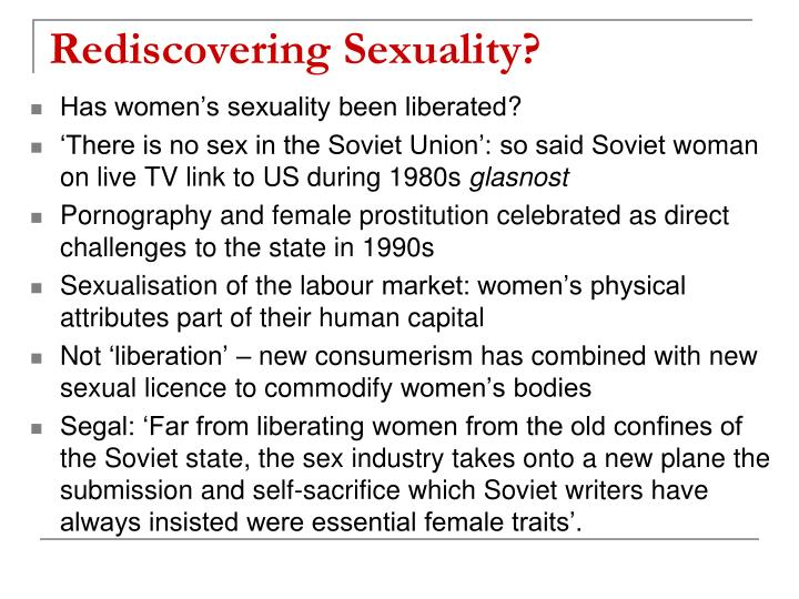 Rediscovering Sexuality?
