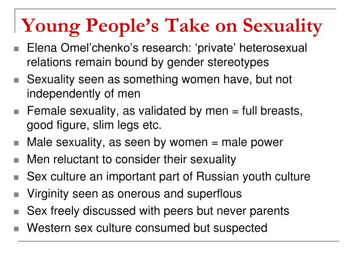Young People's Take on Sexuality