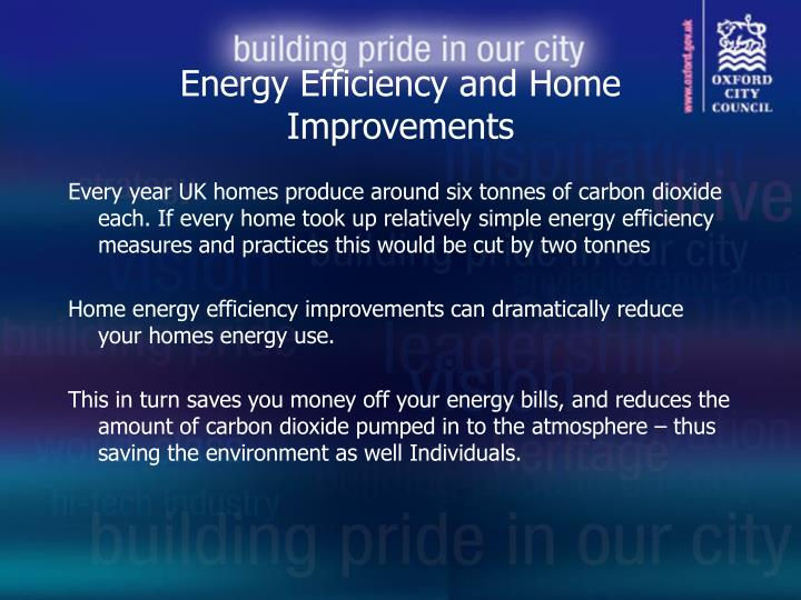 Energy Efficiency and Home Improvements