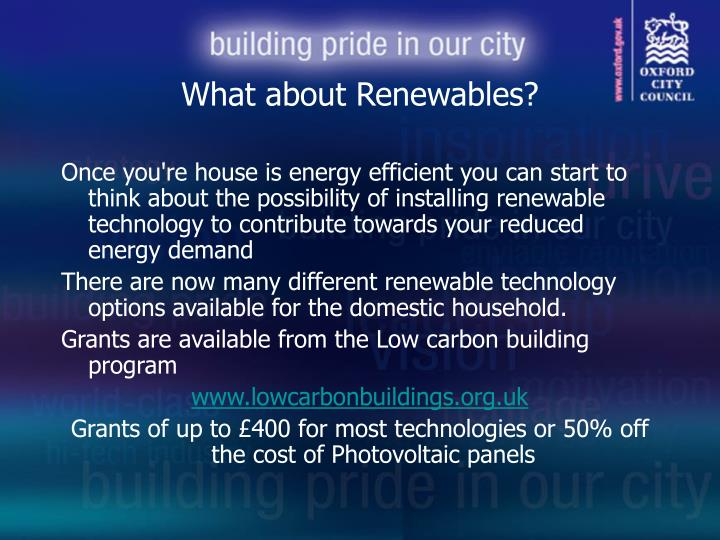 What about Renewables?