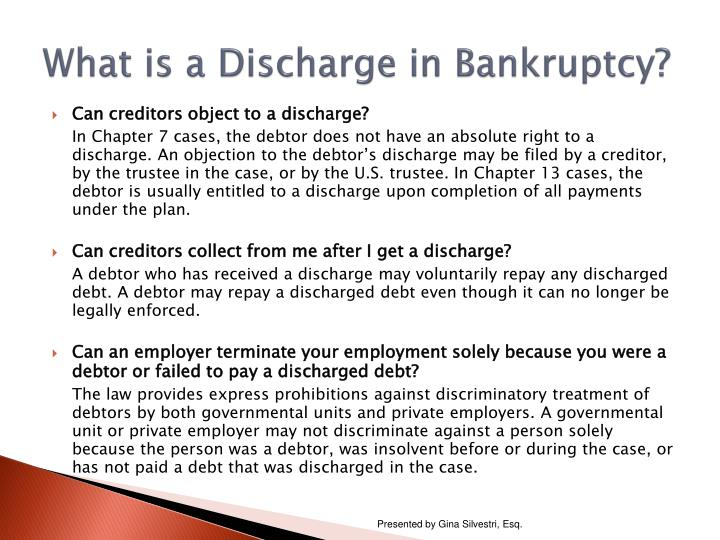 What is a Discharge in Bankruptcy?