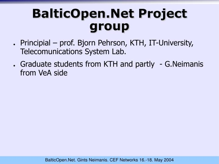 BalticOpen.Net Project group