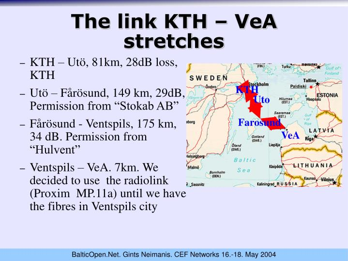 The link KTH – VeA stretches