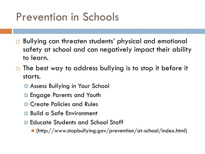 Prevention in Schools