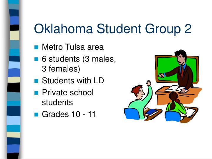 Oklahoma Student Group 2