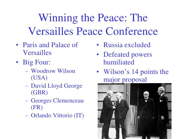 Winning the Peace: The Versailles Peace Conference