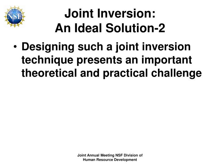 Joint Inversion: