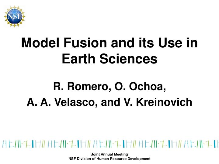 Model fusion and its use in earth sciences