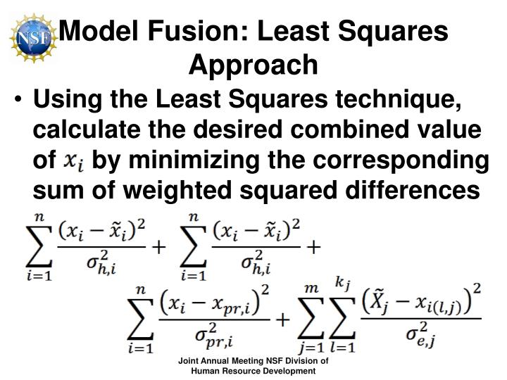 Model Fusion: Least Squares Approach