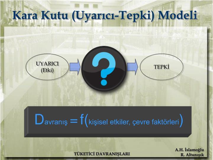 Kara Kutu (Uyarıcı-Tepki) Modeli