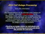 2013 fall outage processing11