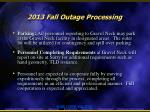 2013 fall outage processing2