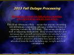 2013 fall outage processing6