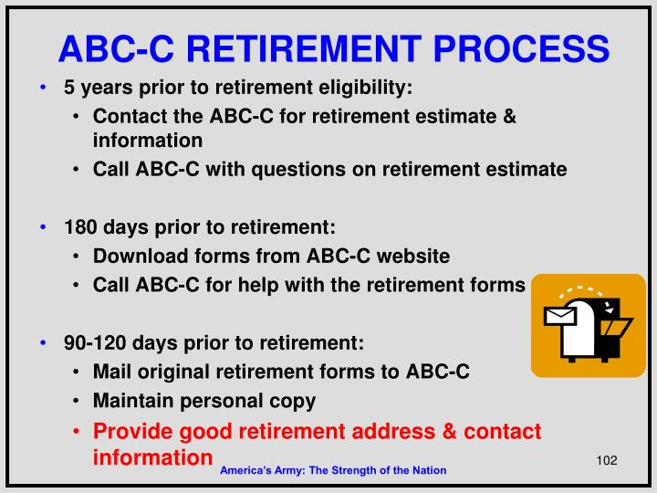 ABC-C RETIREMENT PROCESS