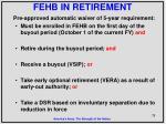 fehb in retirement