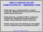 high 3 average salary computation ff embedded tour1