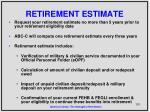 retirement estimate
