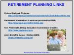retirement planning links