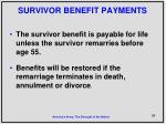 survivor benefit payments
