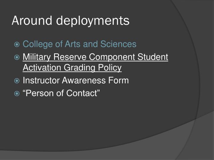 Around deployments