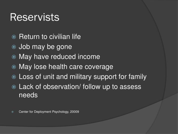 Reservists