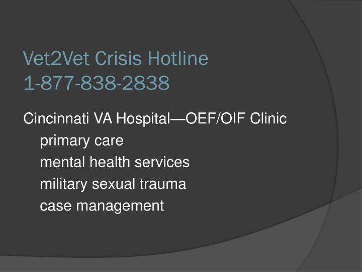 Vet2Vet Crisis Hotline