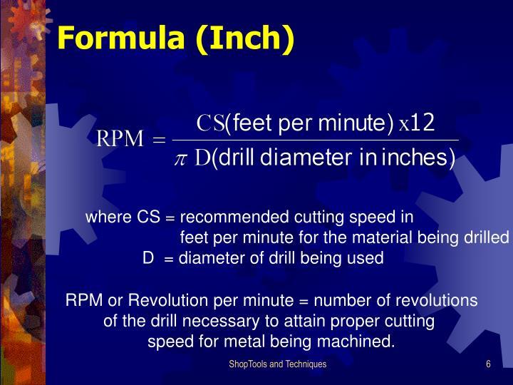 Formula (Inch)