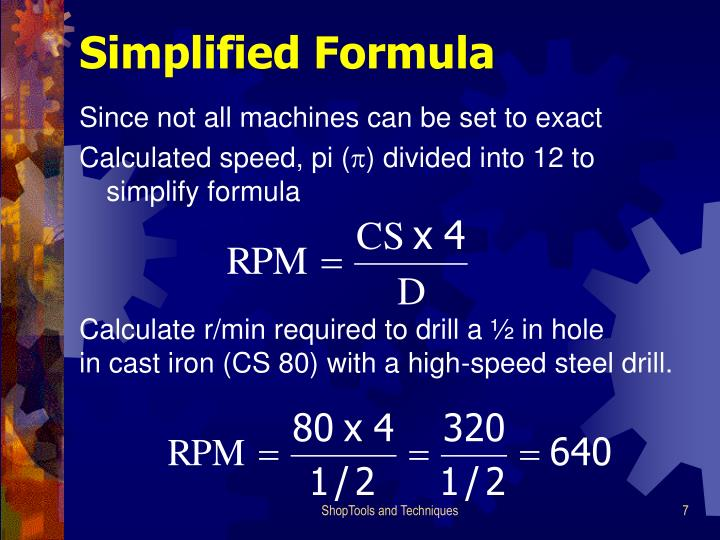 Simplified Formula