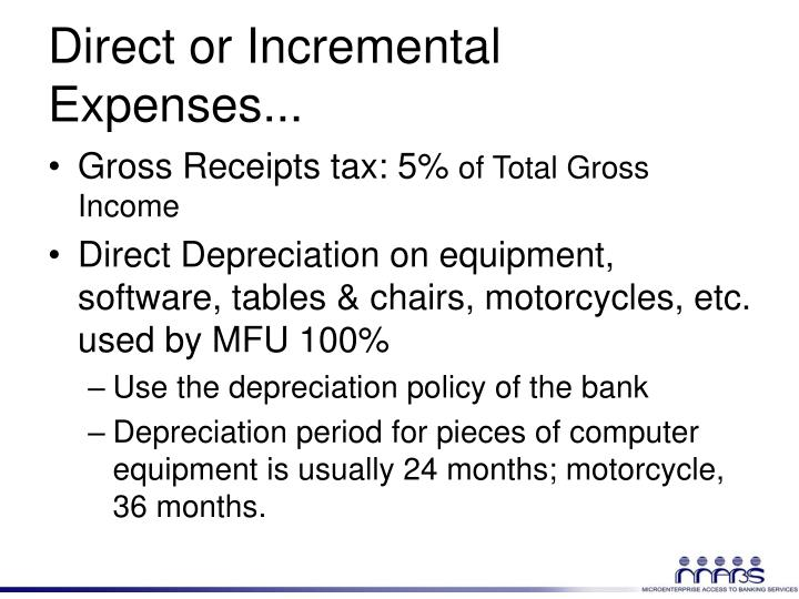 Direct or Incremental Expenses...
