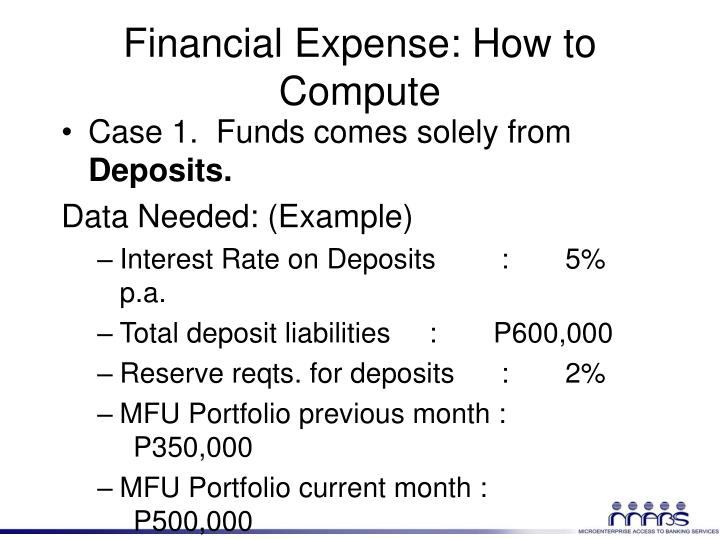 Financial Expense: How to Compute