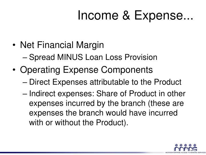 Income & Expense...
