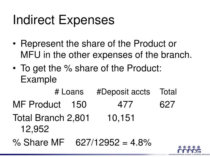 Indirect Expenses