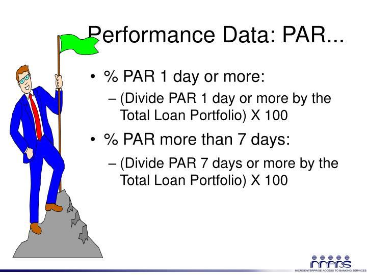 Performance Data: PAR...