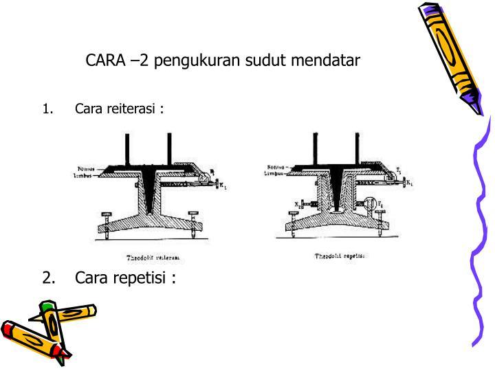 CARA –2 pengukuran sudut mendatar