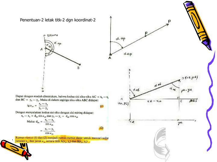 Penentuan-2 letak titk-2 dgn koordinat-2