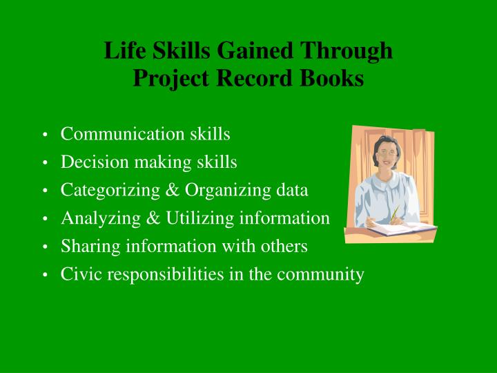 Life skills gained through project record books