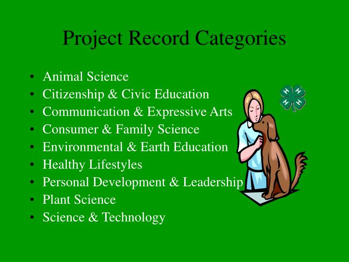 Project Record Categories