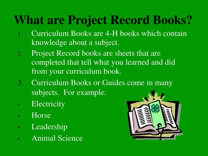 What are project record books